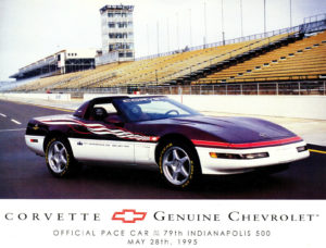 1995 Chevrolet Chevy Corvette Indy Pace Car Original Brochure 2 sided Fact Sheet