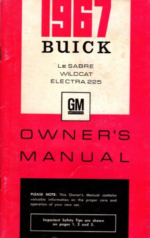 1967 Buick Owners Manual Canada